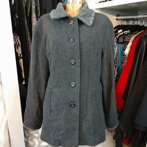 Outbrook Wool/Nylon Button Up Coat/Jacket